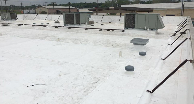 Commercial And Industrial Installation With Versico TPO Roofing System.  After.